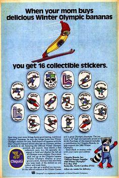 1980 Winter Olympics mascot mail away w/ Chiquita Banana