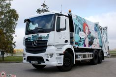 Mercedes-Benz Antos 2533 śmieciarka NTM KGHH z automatycznym wrzutem NTM DynamicLift. Refuse truck, rear loader, garbage vehicles, Kommunalfahrzeuge, Benne a ordures, Recolectores, piccoli camion, Carico posteriore