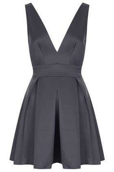 **Deep V Printed Scuba Dress by Oh My Love - Clothing Brands - Clothing Cute Dresses, Beautiful Dresses, Short Dresses, Skater Dresses, Scuba Dress, Love Clothing, Feminine Dress, Business Fashion, Gray Dress