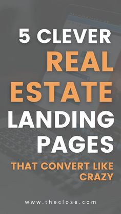 Real Estate Business, Real Estate Investing, Real Estate Marketing, Landing Pages That Convert, Best Landing Pages, Real Estate Leads, Real Estate Tips, Real Estate Landing Pages, Landing Page Examples