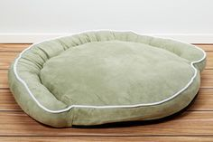 Luxury Bolster Pet Beds - Moss