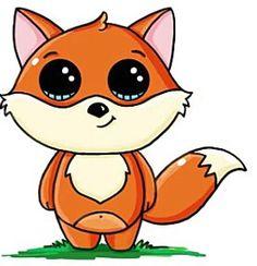 How to draw cute animal ez Manga Kawaii, Arte Do Kawaii, Kawaii Chibi, Kawaii Art, Cute Easy Drawings, Cute Kawaii Drawings, Cute Little Drawings, Cute Animal Drawings, Kawaii Disney