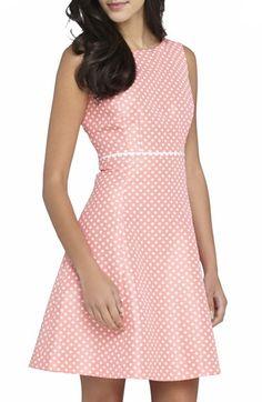 Tahari Polka Dot Jacquard Fit & Flare Dress available at #Nordstrom