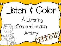 A FUN, INTERACTIVE FREEBIE from Erin Lane! This listening comprehension activity/assessment is an engaging way to get students listening!