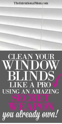 How to Clean Wood or Faux Wood Blinds the Easy Way I hate cleaning blinds. I really hate cleaning blinds. I've been searching for an easier way for forever, and I found an amazing secret weapon. Household Cleaning Tips, Cleaning Checklist, House Cleaning Tips, Diy Cleaning Products, Cleaning Solutions, Deep Cleaning, Spring Cleaning, Cleaning Hacks, Storage Solutions