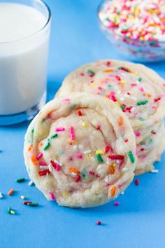 Soft, buttery Funfetti Cookies loaded with sprinkles. With a hint of almond, the perfect sugar cookie taste & so much better than using a mix!