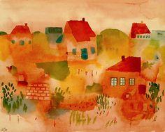 Nordsee Insel Hauser, 1923 - Paul Klee Prints - Easyart.com