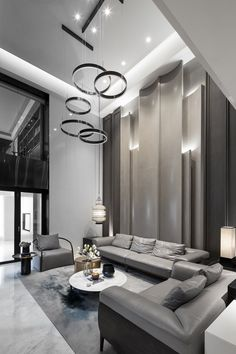 44 luxury living room design ideas with modern accent 3 ~ Beautiful House Lovers Cozy Living Rooms, Formal Living Rooms, Interior Design Living Room, Living Room Decor, Diy Interior, Lobby Interior, Modern Interior, Interior Designing, Design Interiors