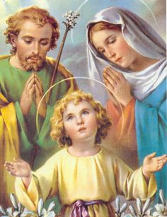 Joseph with our Lord Jesus Savior child. Love this picture of the Holy Family! Catholic Prayers, Catholic Saints, Roman Catholic, Catholic Pictures, Vintage Holy Cards, Blessed Mother Mary, Mary And Jesus, Holy Mary, Religious Art