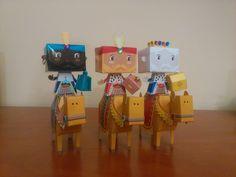 Mechor,Gaspar y Baltasar en camello.