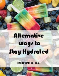 Staying Hydrated is very important and sometimes also tricky. Water can be boring and most of the time we find ourselves so busy that we completely forget to Hydrate. Here are some alternative ways to stay hydrated during busy hot days.  http://jbrobinblog.com/2018/01/14/alternative-ways-to-stay-hydrated/