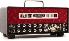 2-channel, 25-watt Tube Guitar Amplifier Head with 4 Modes, 25-/10-watt Operation and Effects Loop - Red Diamond Faceplate