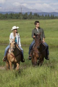 Amber Marshall and Graham Wardle as Amy Fleming and Ty Borden on Heartland