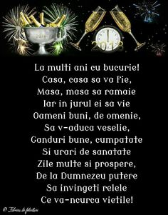 An Nou Fericit, New Year Wishes, Motto, Happy New Year, Diy And Crafts, Happy Birthday, Messages, Words, Quotes