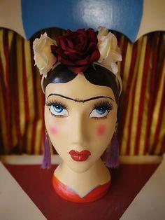 Frida Khalo mannequin head Mannequin Heads, Crown, Fashion, Frida Khalo, Moda, Corona, Fashion Styles, Fashion Illustrations, Fashion Models