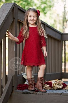Details about WHITE RED Flower Girl Dress Wedding Bridesmaid ...