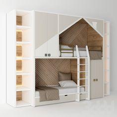 Modern Kids Bedroom, Living Room Modern, Room Design Bedroom, Kids Room Design, Alcove Bed, Student Room, Childrens Beds, Loft Design, Dream Rooms