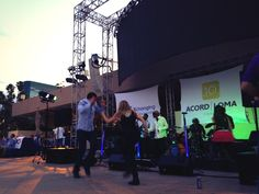 Dancing at the #ACORDLOMA closing party hosted by Xuber at the Wet Republic Ultra Pool in the MGM Grand, Vegas.