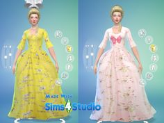 Sims 4 CC's - The Best: Rococo Dress by Oh, so rococo!