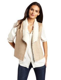 Velvet Women's Jenize Sherpa Vest, Cream, Large Velvet. $80.22. Made in China. Faux shearling. Urban sherpa group. Machine Wash. 100% Polyester. Save 47% Off!