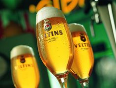 Veltins is one of our great beers. Brewed in Sauerland, near Dortmund, to the German Purity Law 1516. It was voted 'World's Best Pilsner' in the 2007 World Beer Awards.