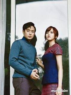 Chun Jung Myung & Kim So Hyun For Marie Claire Korea's August 2014 Issue | Couch Kimchi