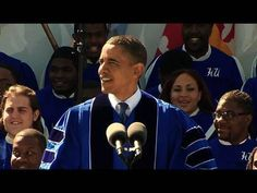 President Obama delivers the May 9, 2010 commencement address at Hampton University in Hampton, Virginia