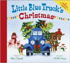 From: LITTLE BLUE TRUCK'S CHRISTMAST by ALice Schertle, illustrated by Jill McElmurry. An excellent holiday edition (with colorful flashing tree lights at the end) to this charming series. A must for all lovers of trucks, blue or otherwise. The Book Of Joy, The Body Book, Little Truck, Little Blue Trucks, Books For Boys, Childrens Books, Baby Books, Kindle, Newbery Medal