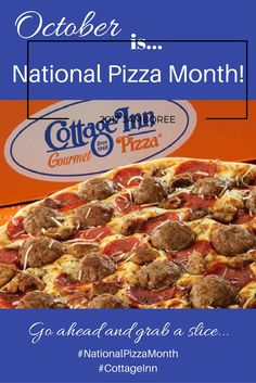 October is #nationalpizzamonth find what you are looking for at #cottageinnpizza
