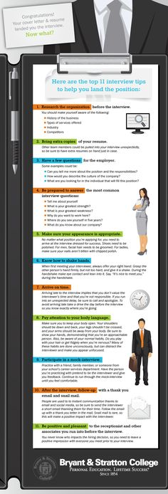 Looking for the best way to make a big impression at an interview.  Check out this #infographic with 11 great interview tips.