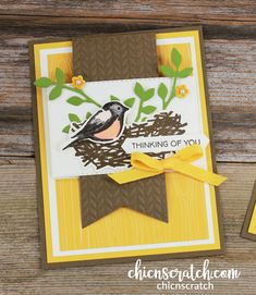 Fancy Fold Cards, Folded Cards, Bee Cards, Bird On Branch, Quilling Cards, Stamping Up Cards, Animal Cards, Card Sketches, Crafty Projects