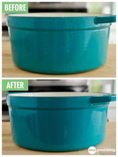 This Is The Best Way To Remove Stains From Your Enameled Cookware - One Good Thing by JilleePinterestFacebookPinterestFacebookPrintFriendly