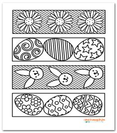 Free Printable Easter Coloring Bookmarks | Instant Download | Four Designs