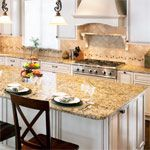 Santa Cecilia Granite in Kitchen photo gallery.