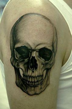 Classic Skull Tattoo by Bacanu Bogdan