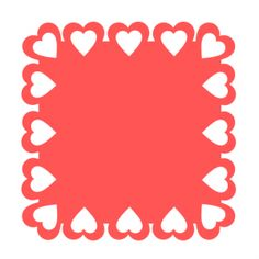 Free SVG File Day 113 – Valentine Lace Square