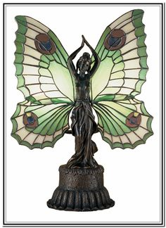 Dale Tiffany mariposa lámpara de mesa