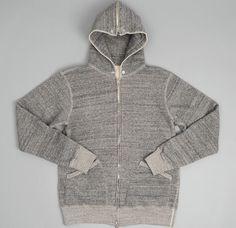 Marl sweat with zip thru hood