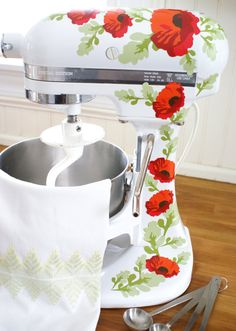 Hey, I found this really awesome Etsy listing at https://www.etsy.com/listing/230985839/red-poppies-kitchenaid-decals