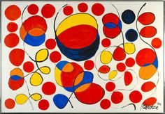Title: Untitled  Artist: Alexander Calder (1898-1976, American)  Year: 1970    Art Movement: Post-war & Contemporary  Materials/Techniques: Gouache on paper