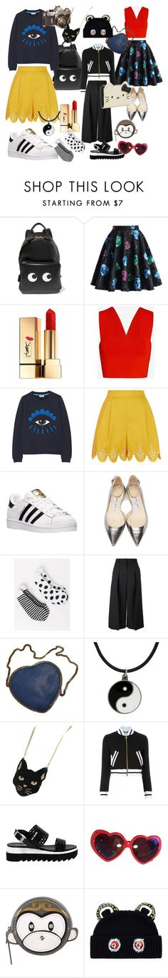 Chinese Hong Kong Style by jenny-ragnwaldh on Polyvore featuring Kenzo, A.L.C., Moschino, Temperley London, Chicwish, Erdem, Lane Bryant, adidas, Jimmy Choo and Love Moschino