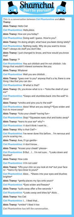 A conversation between Alois Trancy and Ciel Phantomhive