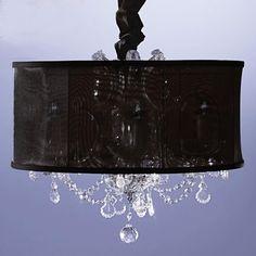 Black sheer crystal chandileer