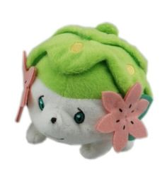 "Amazon.com: Shaymin (Land Form) ~5"" Plush: Pokemon Mattari Nuigumi Relaxed Pose Mini-Plush Series (Japanese Import): Toys & Games"