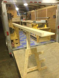 Allen's Tool Trailer #workbench #mobilewoodshop #carpentry #paulk #tools