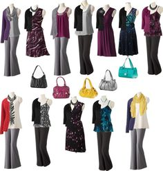 """""""Building a new wardrobe - autumn plum & teal"""" by dreamtree on Polyvore"""