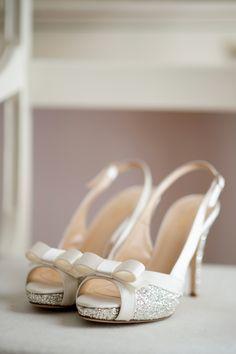 Kate Spade Silver Glitter Heels | Julia Jane Weddings https://www.theknot.com/marketplace/julia-jane-weddings-ct-554452