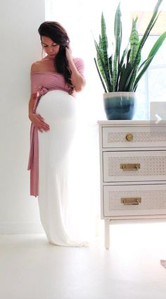 Looking for a gorgeous maternity gown for a maternity photo shoot? Check out this Easy shop! This woman has several absolutely stunning maternity gowns that will rock a photo session | Maternity gown / maternity dress / convertible baby shower dress- The fitted wrap dress ready to ship / maternity fashion / maternity style / maternity outfit / maternity dress / baby shower dress / pregnancy / bump #ad #maternitygown