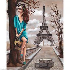 Image 3D Femme - Femme tunique turquoise et Tour Eiffel 40 x 50 cm http://www.creavea.com/image-3d-femme-femme-tunique-turquoise-et-tour-eiffel-40-x-50-cm_boutique-acheter-loisirs-creatifs_39952.html