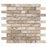 Camila Polished Brick Travertine Mosaic Sample